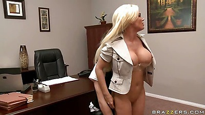 Big tits milf with a perfect butt Diamond bends over