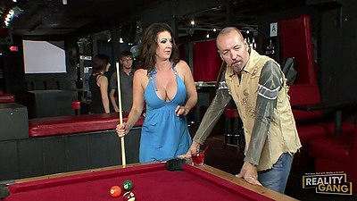 Pool time play with milf  Raquel DeVine in sex dress