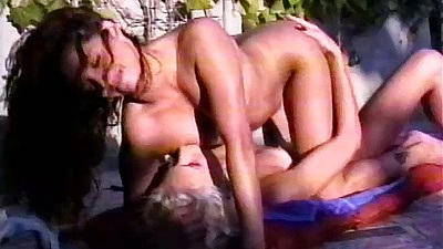 90s porn scene with nice looking lesbian 69 outdoors Vixxen and Francesca L�