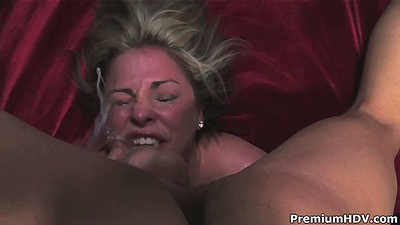 Rough sex deep throat forced suck with Isabel Ice that turned red from gagging