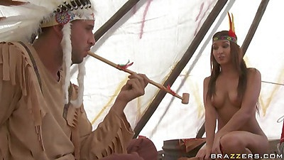 Cowboys and indians men swap their wives